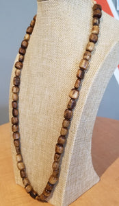 Nigerian 'Stained Wood' Glass Bead Necklace