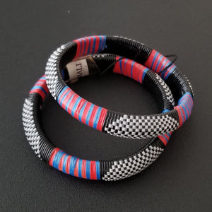 Tuareg Recycled Plastic Bracelet Sets - Small