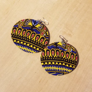 Kitenge (Ankara) Circle Earrings - Large