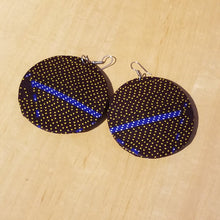 Load image into Gallery viewer, Kitenge (Ankara) Circle Earrings - Large