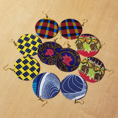 Kitenge (Ankara) Circle Earrings