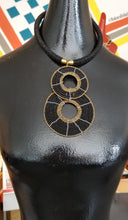 Load image into Gallery viewer, Black & Gold Maasai Choker Set