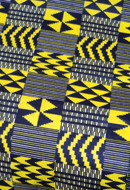 'Zuhrah' Kente Print Fabric (6 yds)