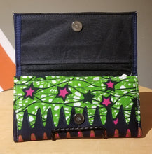 Load image into Gallery viewer, Ghanaian Ankara Print & Leather Wallet