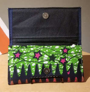 Ghanaian Ankara Print & Leather Wallet