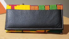 Load image into Gallery viewer, Ghanaian Kente Print & Leather Wallet