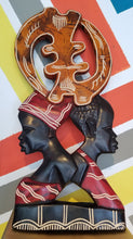Load image into Gallery viewer, Gye Nyame Couple Wall Sculpture (Pre-Order)