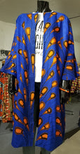 Load image into Gallery viewer, Peacock Print Jacket - Orange/Blue
