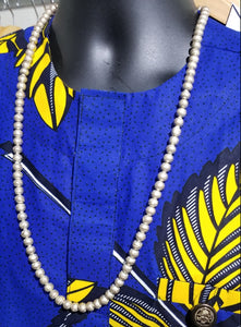 Ethiopian Pewter & Brass Necklace
