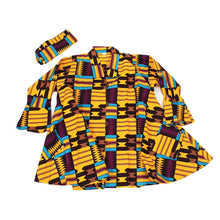 Load image into Gallery viewer, Kente Print Umbrella Jacket