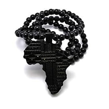 Load image into Gallery viewer, Black Luxe Africa Beaded Necklace