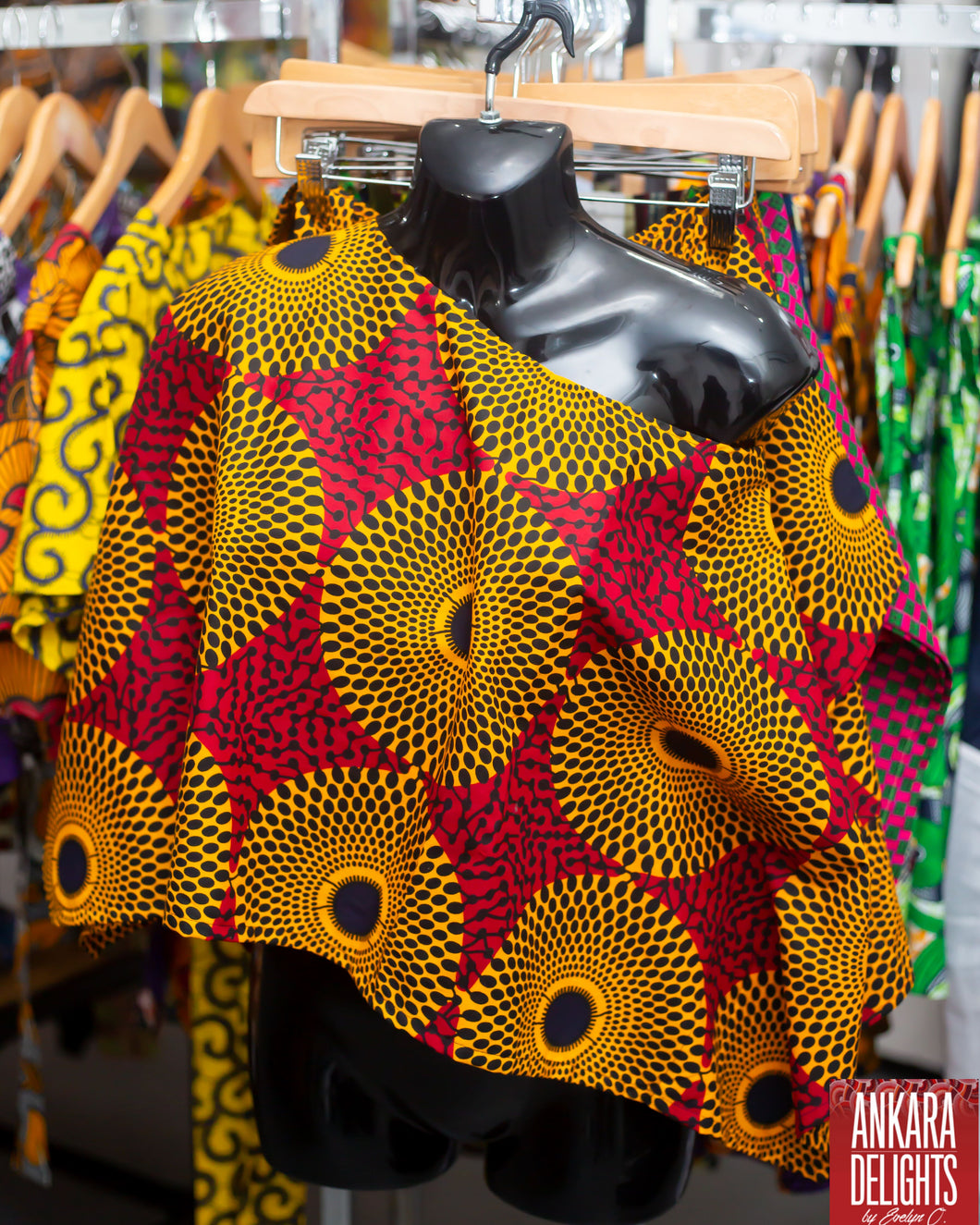 Ankara Free Crop Top