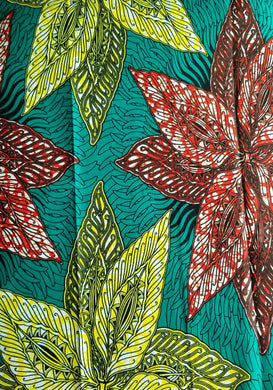 'African Poinsettia' Head Wrap (2 yds) (Pre-Order)