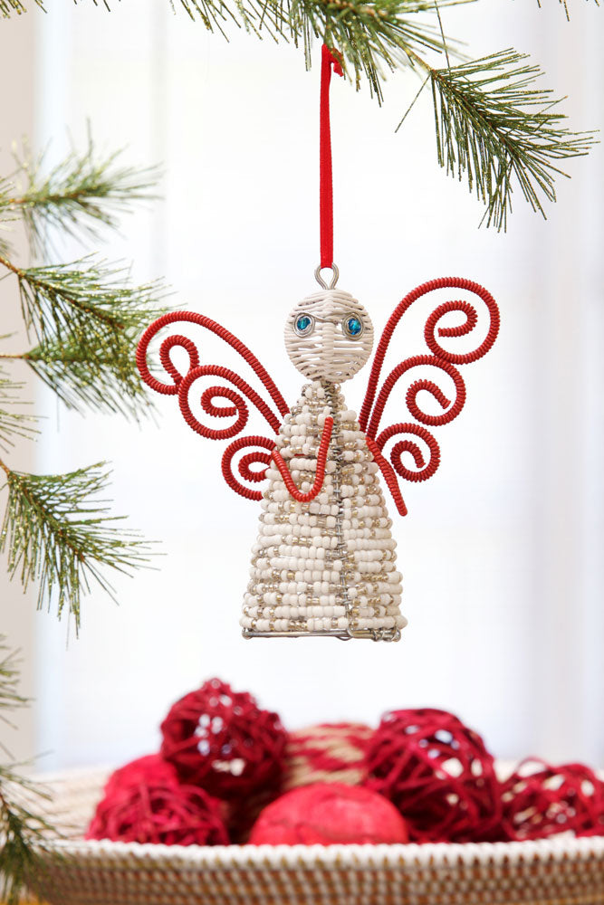 Holiday Ornament: Zulu Hand Beaded Angel