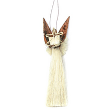 Load image into Gallery viewer, Holiday Ornament: Large Sisal & Banana Fiber Angel With Star