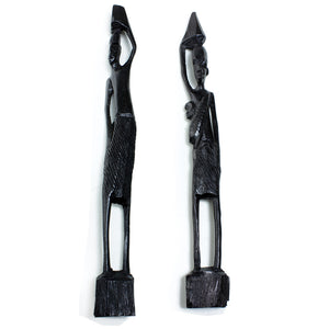 Ebony Skeleton Wooden Figurines