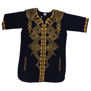 Black & Gold Embroidered Tunic