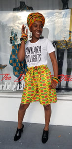 Ankara Summer Shorts (Size Small)