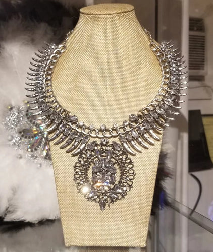 Crystal 'Black Panther' Necklace