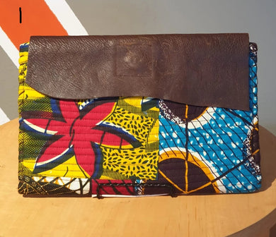 T&T Leather Ankara Clutch