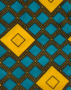 'Grid-Work' Ankara Fabric - 2 yard set