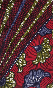 Crescent Bloom Ankara Fabric - 2 yard set