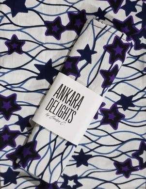'Purple Star' Head Wrap (1 yd)