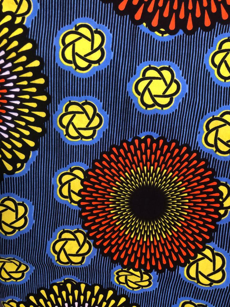 Sunflower Ankara Fabric (2 yds)
