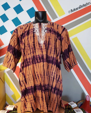 Men's Batik Dashiki Top
