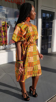Kente Print Shift Dress