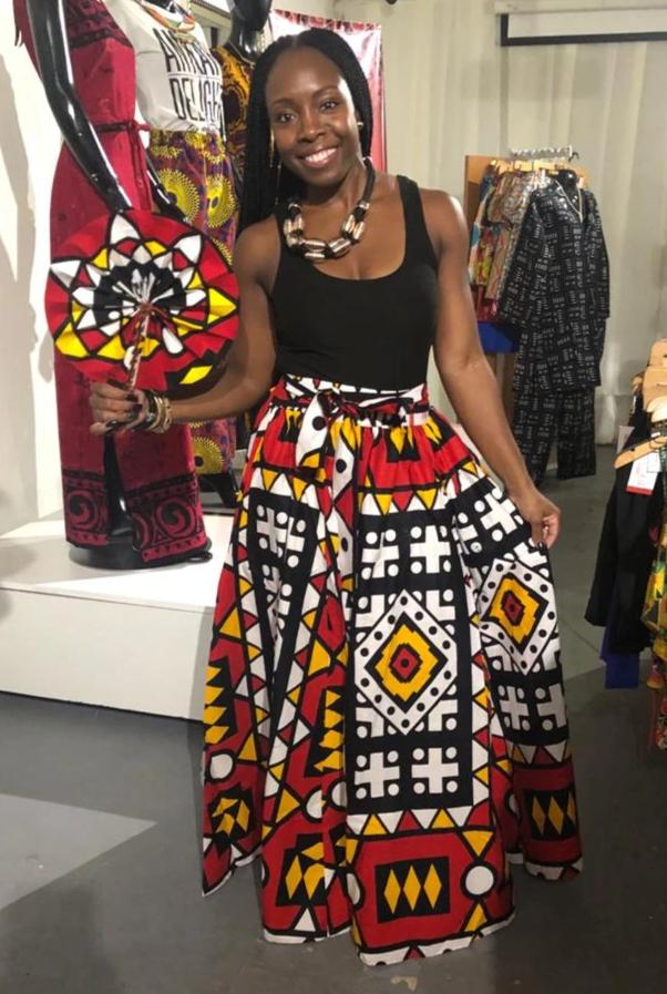 'Colors of Angola' Samakaka Print Maxi Skirt
