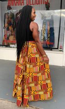 Load image into Gallery viewer, Patchwork Kente Print Maxi Skirt