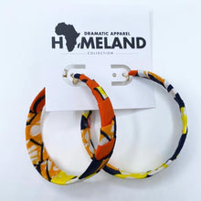 Load image into Gallery viewer, Ankara Hoop Earrings - Small