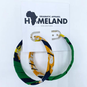 Ankara Hoop Earrings - Small