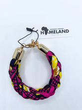 Load image into Gallery viewer, Ankara Braided Bracelet