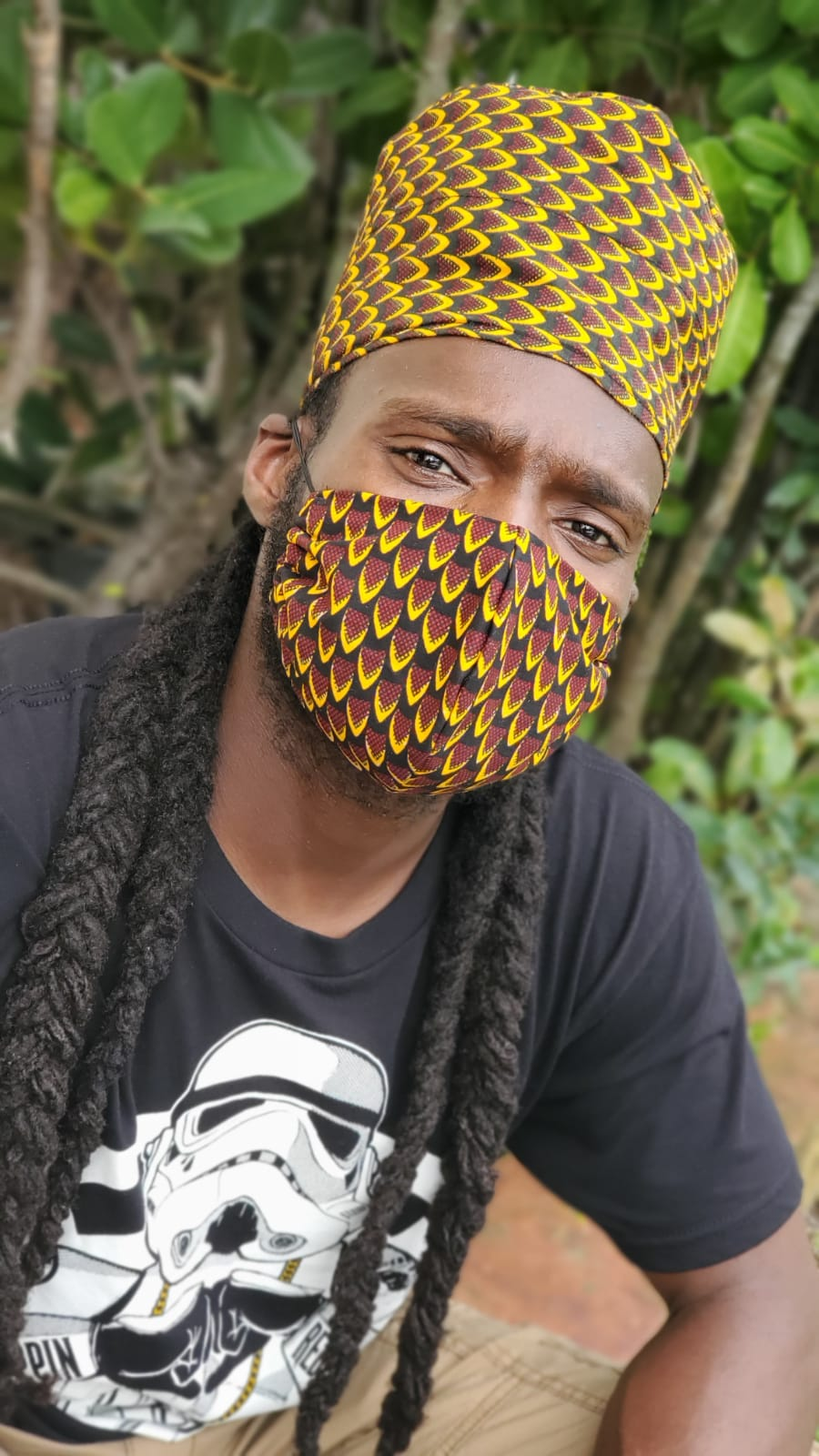 'Fish Scales' Ankara Glam Face Mask