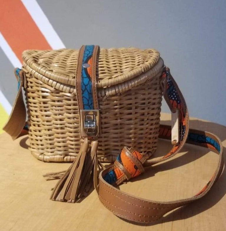 ÉKÉTÉ Mini Zanzi Straw Handbag