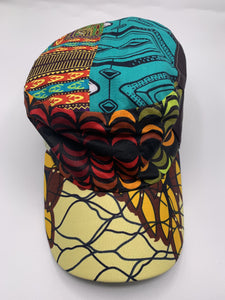 African Print Military Hat