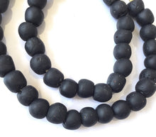 Load image into Gallery viewer, Ghanaian 'Matte Black' Glass Bead Necklace