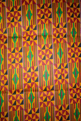 'Serwa' Kente Print Fabric (6 yds)