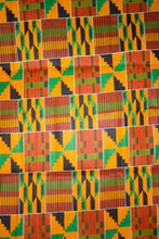Load image into Gallery viewer, 'Addae' Kente Print Fabric (6 yds)