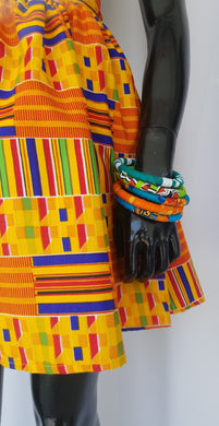 Kente Print Mini Skirt