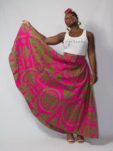 Load image into Gallery viewer, African Ivy Print Maxi Skirt