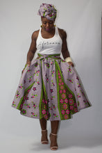 Load image into Gallery viewer, Pink Ivy Ankara Midi Skirt