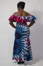 Load image into Gallery viewer, Pink & Blue 'Anwu' Elastic Gown