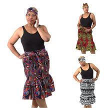 Load image into Gallery viewer, African Print Stretch Mermaid Skirts (Pre-Order)