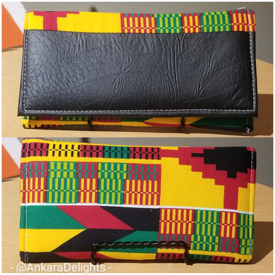 Ghanaian Kente Print & Leather Wallet