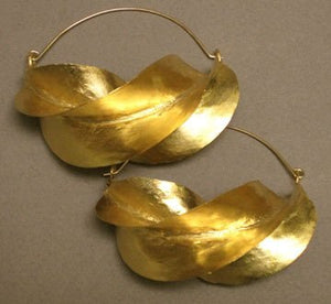Fulani Gold Twist Earrings