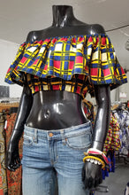Load image into Gallery viewer, Ankara Ruffle Crop Tops II