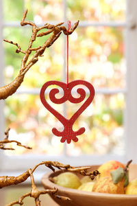 Holiday Ornament: Adinkra Symbol (Sankofa)